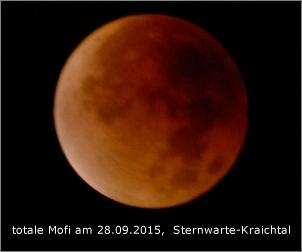 totale Mondfinsternis am 28 09 2015