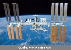 ISS internationale Raumstation und Erde