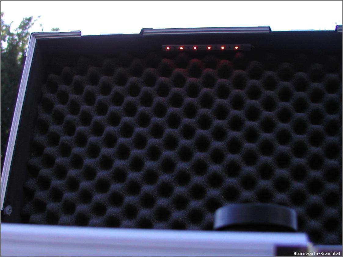 Teleskop optus vergrÖßerung im koffer mit viel zubehör